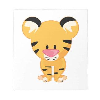 Stuffed Tiger Memo Note Pad