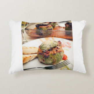 Stuffed zucchini accent pillow