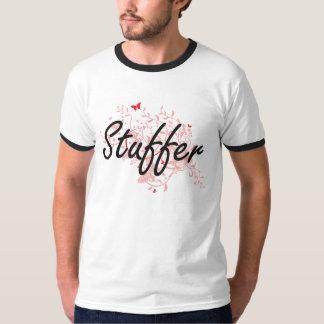 Stuffer Artistic Job Design with Butterflies T Shirt