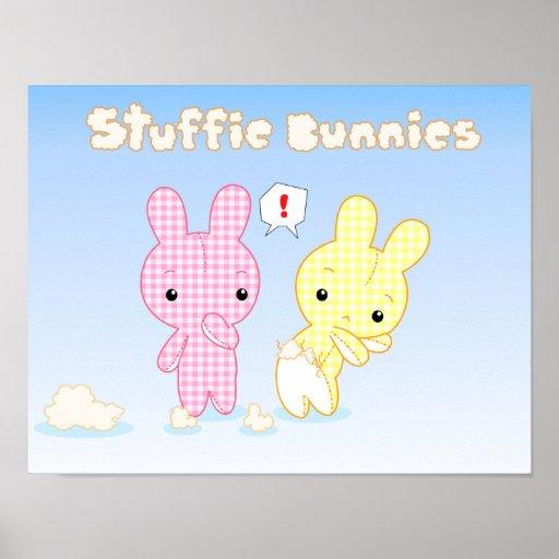 Stuffie Bunnies Poster