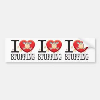 Stuffing Love Man Car Bumper Sticker