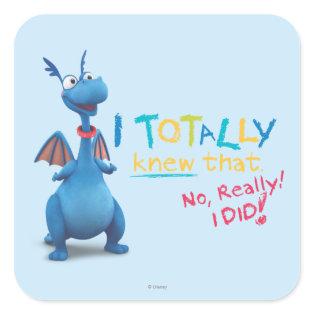 Stuffy - I Totally Knew that Square Sticker