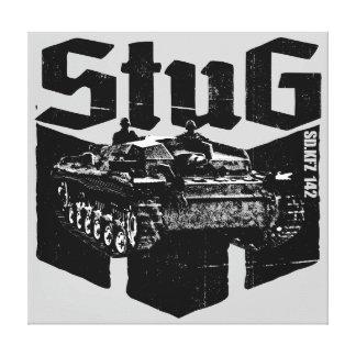 StuG III estiró la impresión de la lona