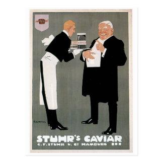 Stuhr's Caviar Fish Vintage Food Ad Art Postcard