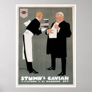 Stuhr's Caviar Fish Vintage Food Ad Art Poster