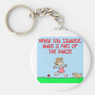 stumble dance keychain