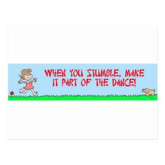 stumble dance postcard