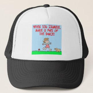 stumble dance trucker hat