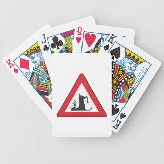 Stumbling Wildlife (Deer roadsign) Bicycle Playing Cards