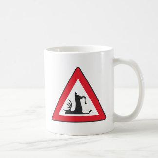 Stumbling Wildlife (Deer roadsign) Coffee Mug