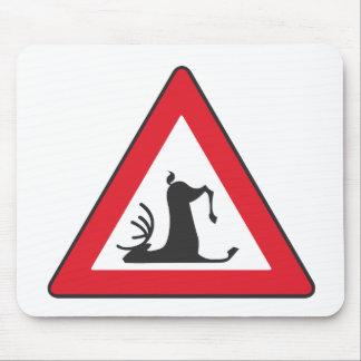 Stumbling Wildlife (Deer roadsign) Mouse Pad