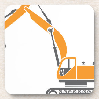 Stump and Stone Cutter Excavator Vector Drink Coaster