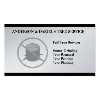 Stump Grinding Grinder Prune Tree Removal Service Double-Sided Standard Business Cards (Pack Of 100)