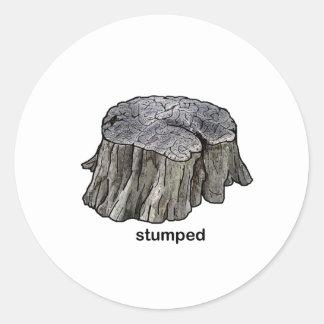 Stumped Classic Round Sticker