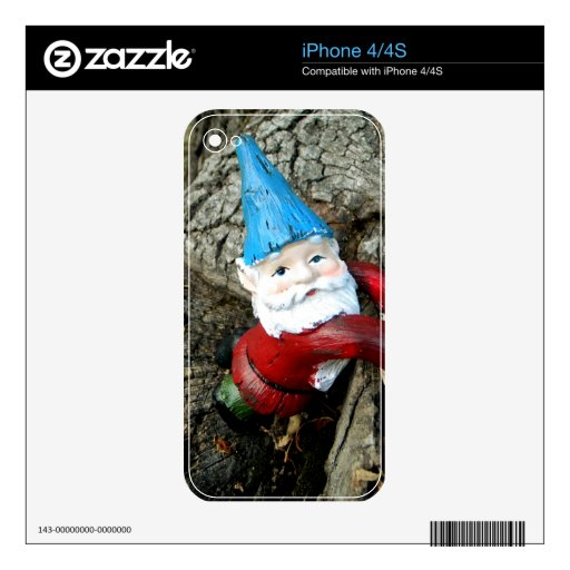 Stumped Gnome Decals For The iPhone 4