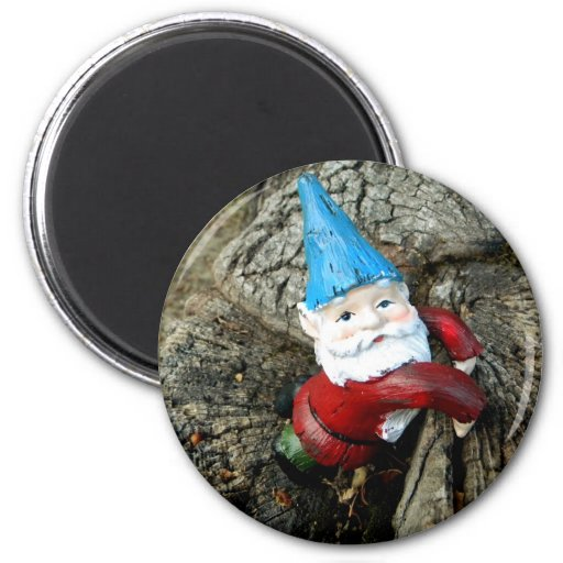 Stumped Gnome Fridge Magnet