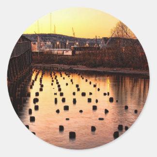 Stumps at the Pier Classic Round Sticker