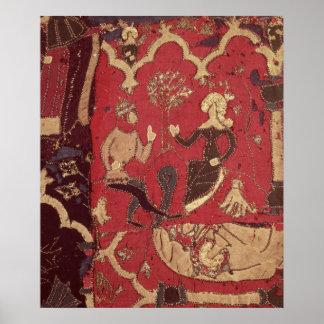 Stumpwork que representa Tristan y a Isolda Póster
