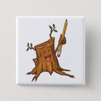 Stumpy Button (Square) White