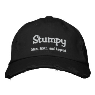 Stumpy,  Man, Myth, and Legend. Embroidered Hats