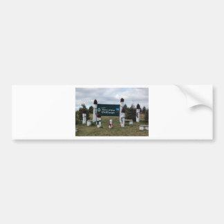 Stumpy Snowman Village Bumper Sticker