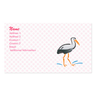Stumpy Stork Business Card Template