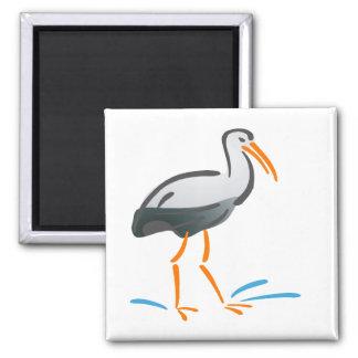 Stumpy Stork Fridge Magnet