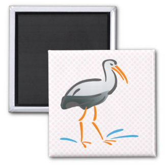 Stumpy Stork Fridge Magnets