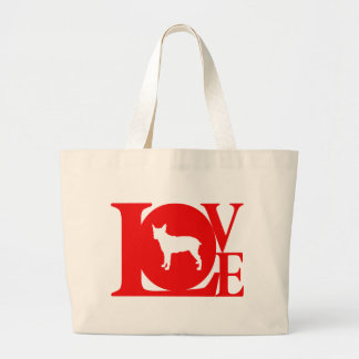 Stumpy Tail Cattle Dog Large Tote Bag