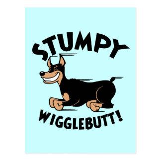 Stumpy Wigglebutt! Postcard