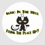 Stunk The Place Up Classic Round Sticker