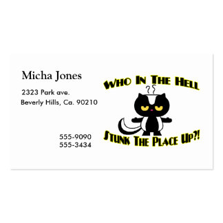 Stunk The Place Up Skunk Double-Sided Standard Business Cards (Pack Of 100)