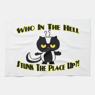 Stunk The Place Up Skunk Hand Towel