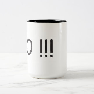 Stunned Shock Speechless Two-Tone Coffee Mug