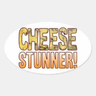 Stunner Blue Cheese Oval Sticker