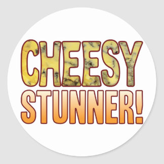 Stunner Blue Cheesy Classic Round Sticker