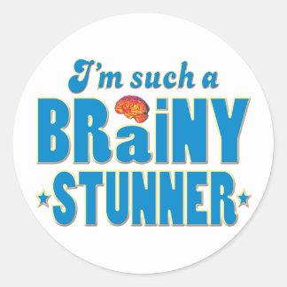 Stunner Brainy, Such A Classic Round Sticker