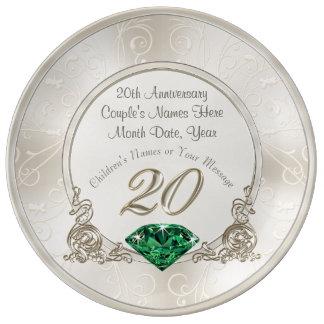 Stunning 20th Wedding Anniversary Gifts Plate
