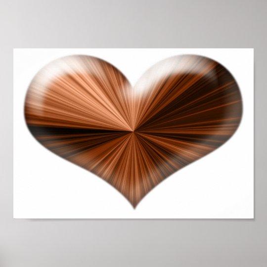 Stunning 3D Heart Design Poster