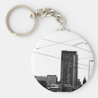 Stunning Abstract Cityscape In Monochrome Keychain