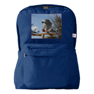 Stunning African Grey Parrot Backpack