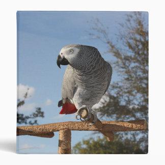 Stunning African Grey Parrot Binder