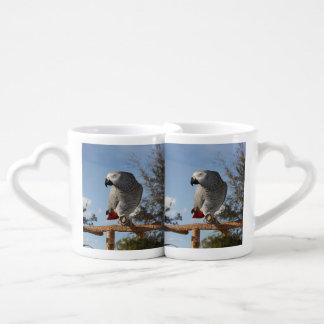 Stunning African Grey Parrot Coffee Mug Set