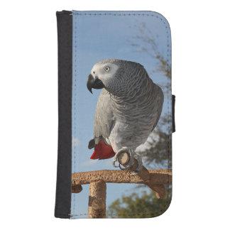 Stunning African Grey Parrot Galaxy S4 Wallet Case