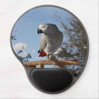 Stunning African Grey Parrot Gel Mouse Pad