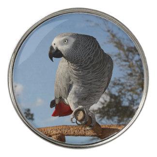 Stunning African Grey Parrot Golf Ball Marker