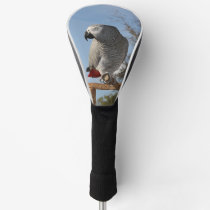 Stunning African Grey Parrot Golf Head Cover