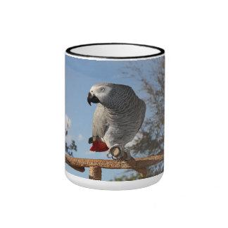 Stunning African Grey Parrot Ringer Mug
