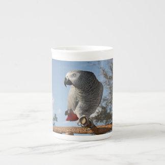 Stunning African Grey Parrot Tea Cup