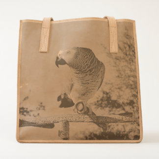 Stunning African Grey Parrot Tote